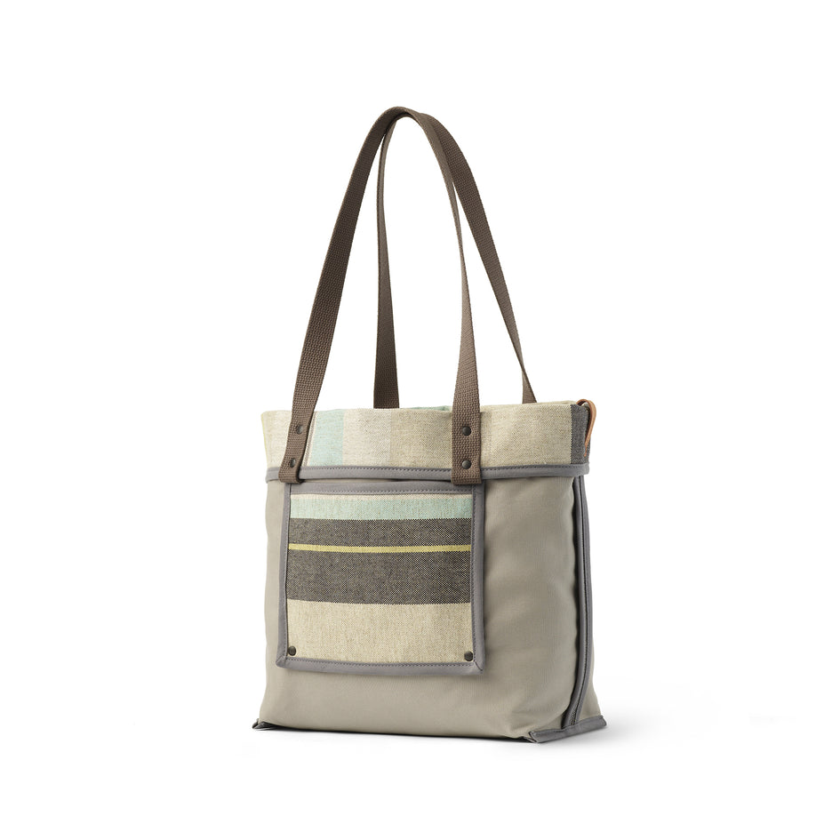 Reversible Tote in Multi-Stripe Image 3