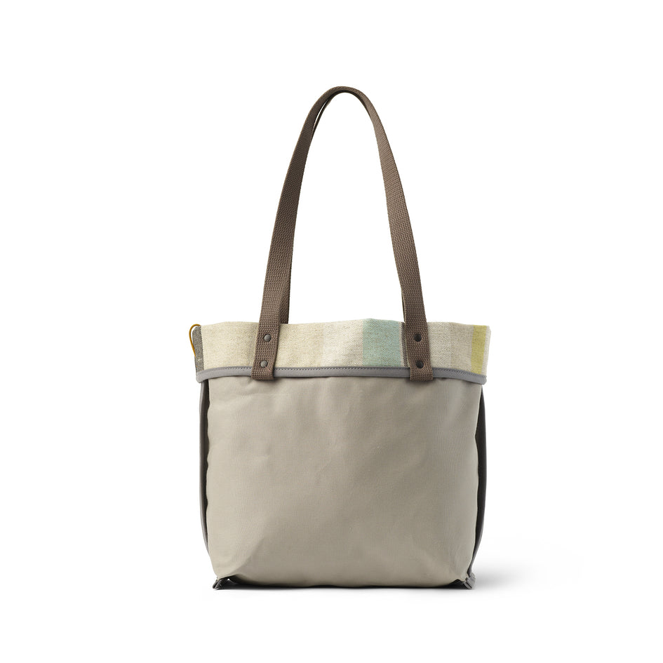 Reversible Tote in Multi-Stripe Image 5