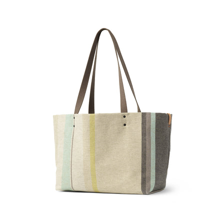 Large Reversible Tote in Multi-Stripe
