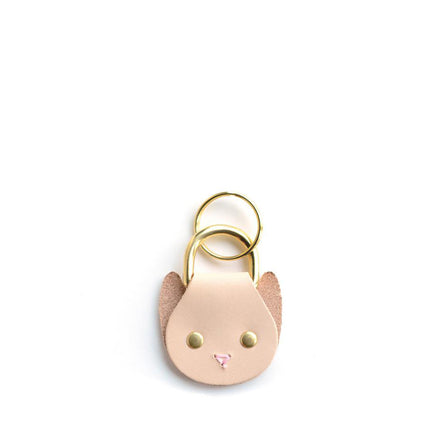Cat Keychain in Natural
