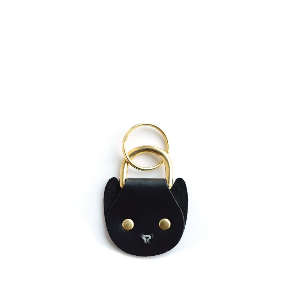 Cat Keychain in Black Zoom Image 1