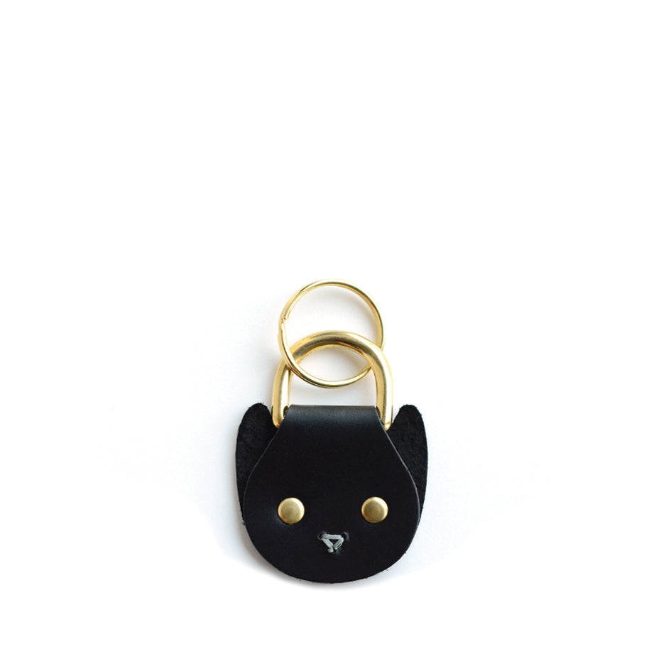 Cat Keychain in Black Image 1