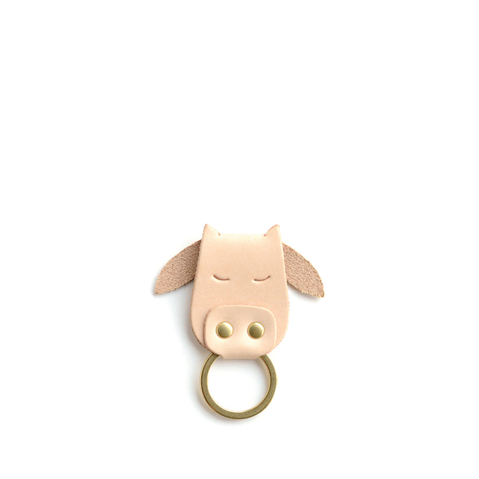 Cow Keychain in Natural Zoom Image 1