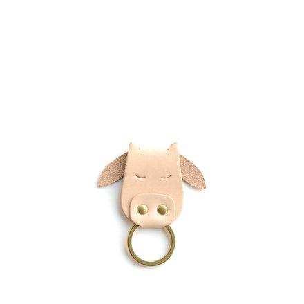 Cow Keychain in Natural