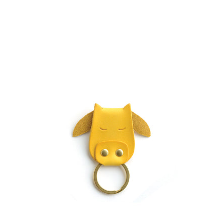 Cow Keychain in Yellow