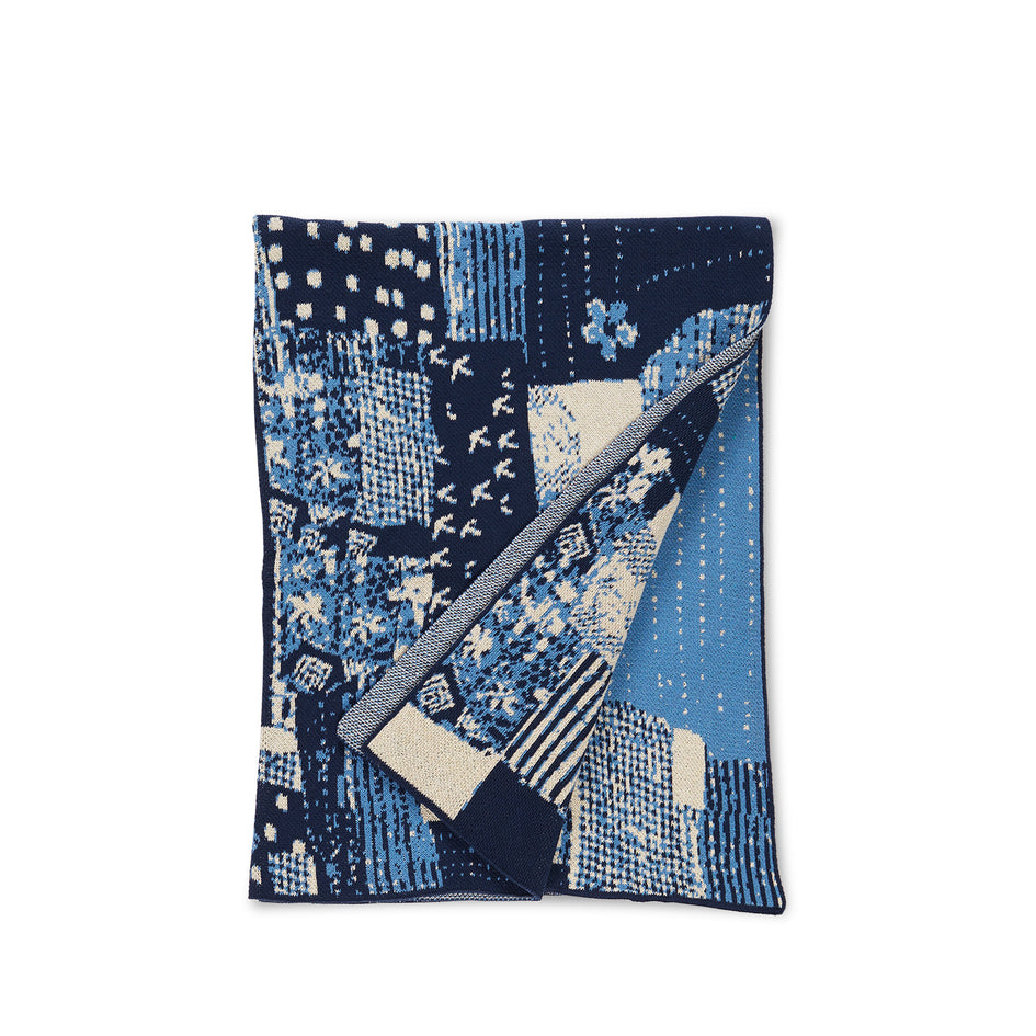 Patchwork Throw in Indigo Image 1