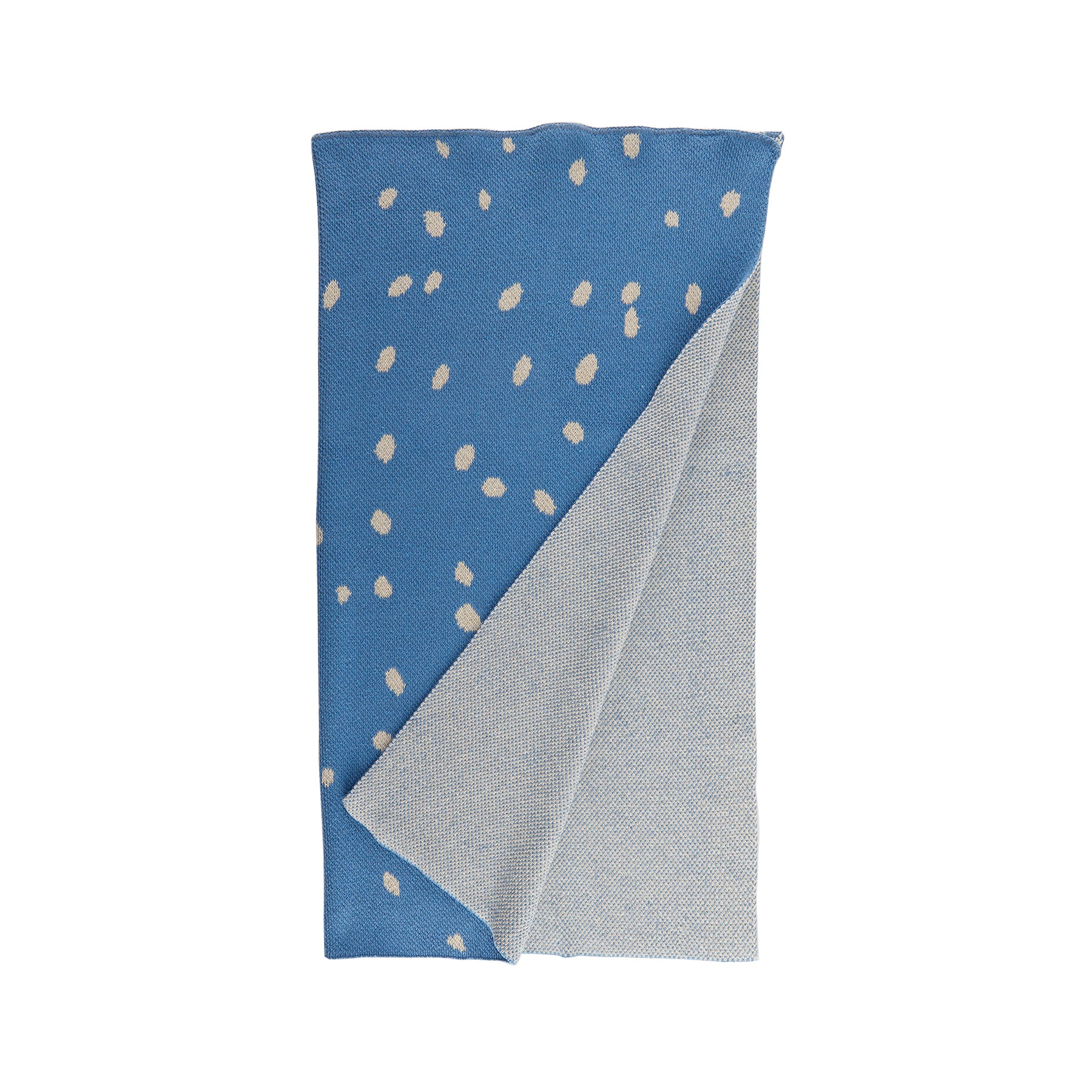 Kids Dot Blanket in Blue Zoom Image 1