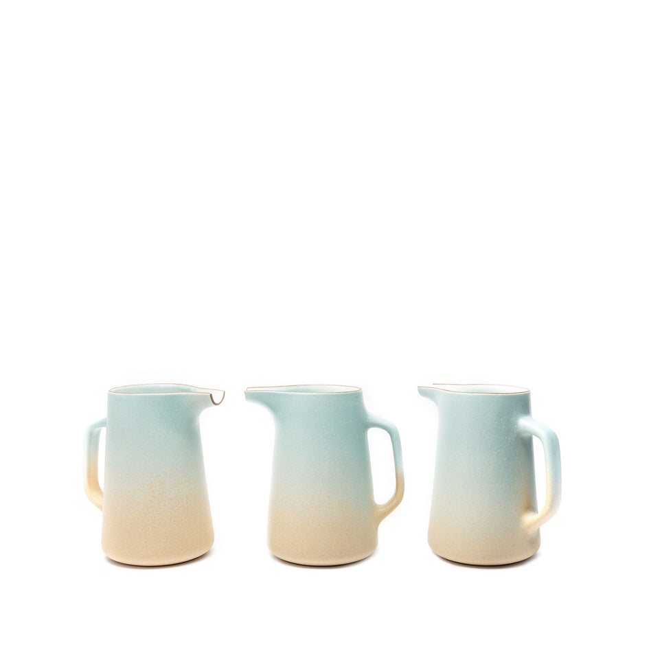 Large Pitcher in Aqua and Barley Image 2