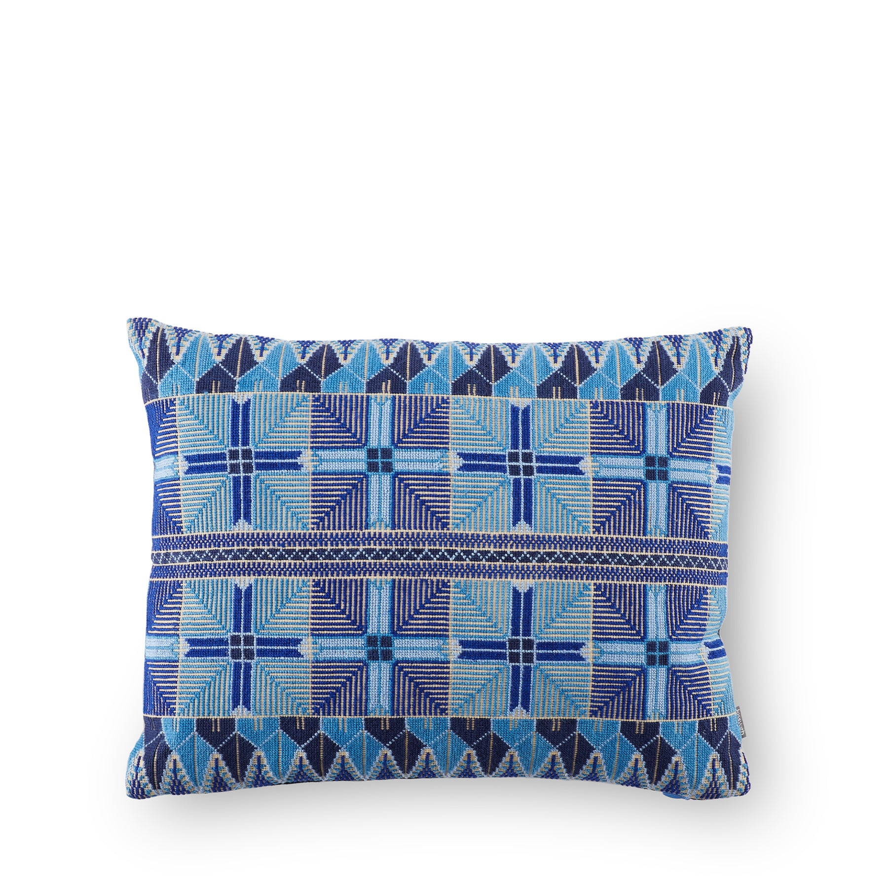 Ensaf Pillow in Blue Zoom Image 1