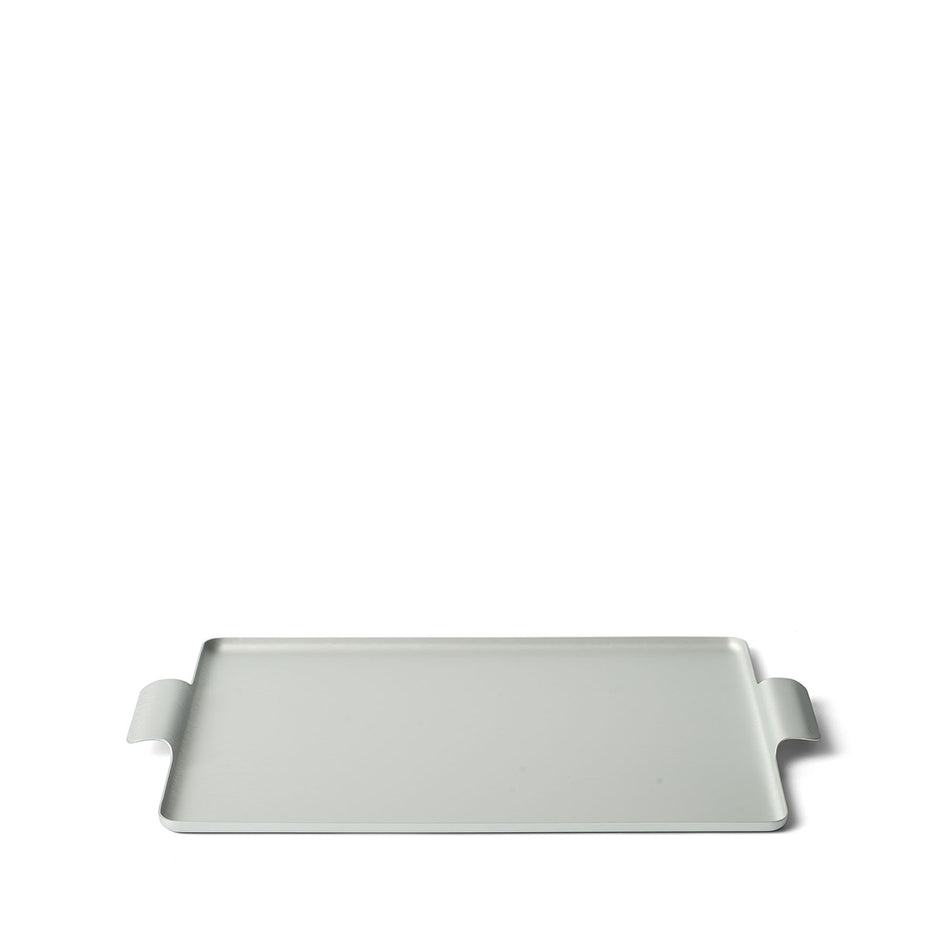 Pressed Tray in Silver 11 x 14.5 Image 1