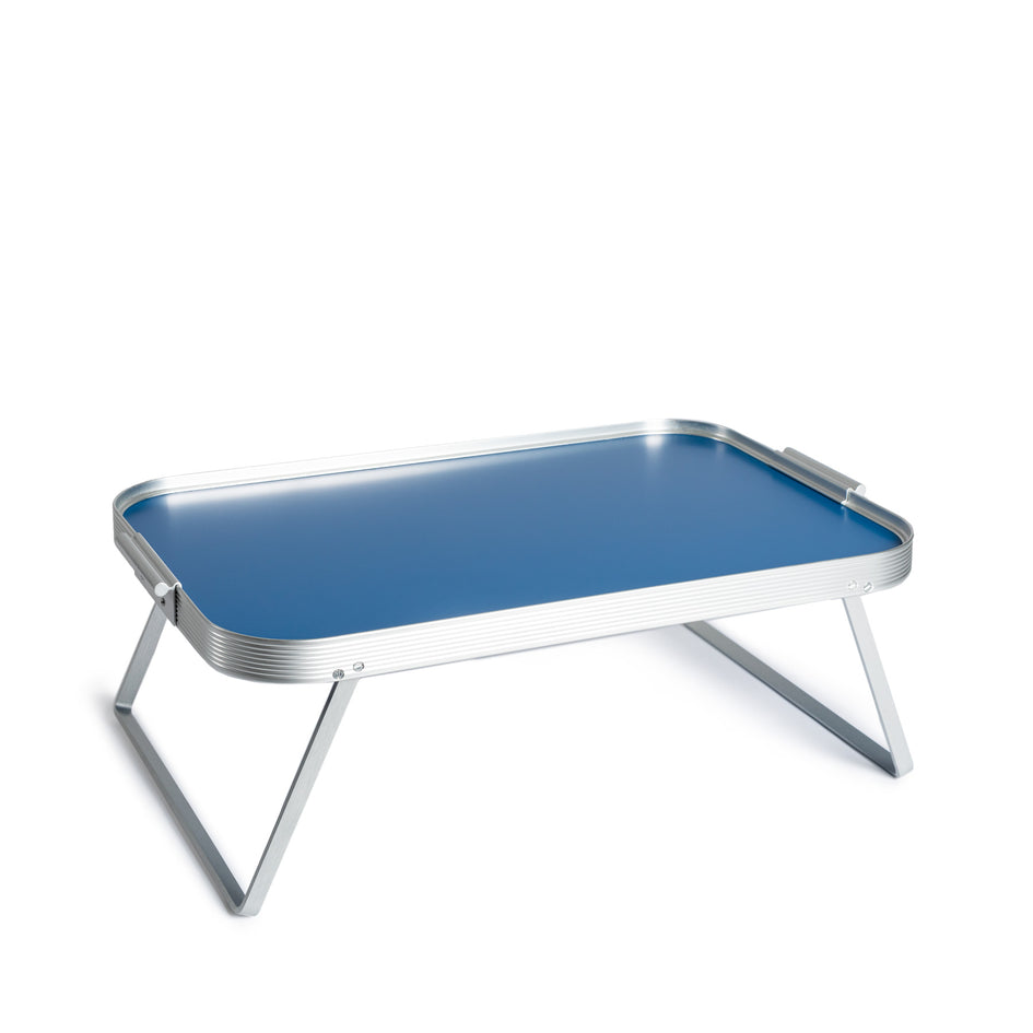 Lap tray in Cobalt Blue with Silver surrounds Image 1