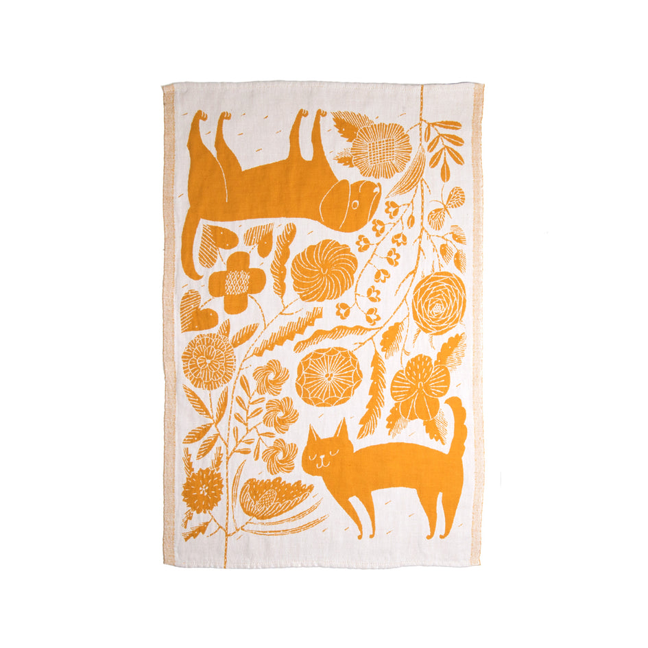Koira Tea Towel in Cloudberry Image 2