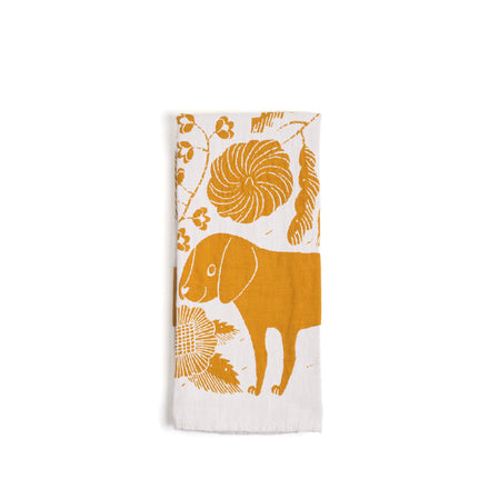 Koira Tea Towel in Cloudberry