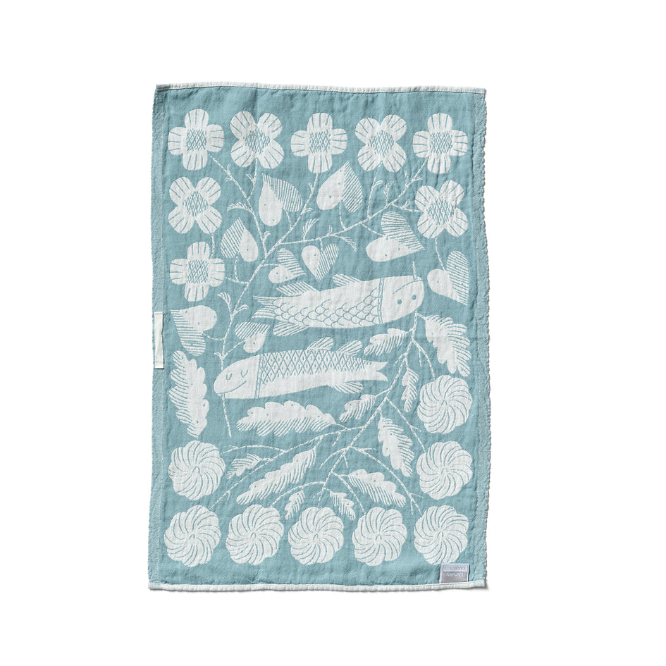 Kala Tea Towel in Turquoise Zoom Image 3