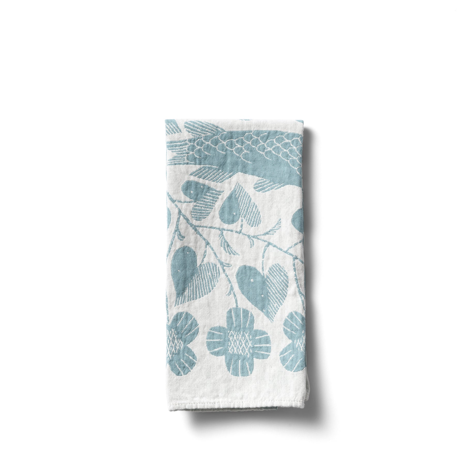 Kala Tea Towel in Turquoise Zoom Image 1