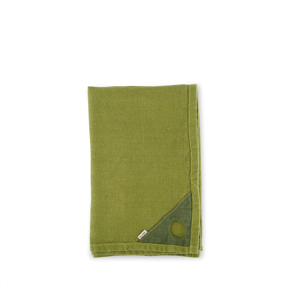 Linen Loop Tea Towel in Olive Image 1