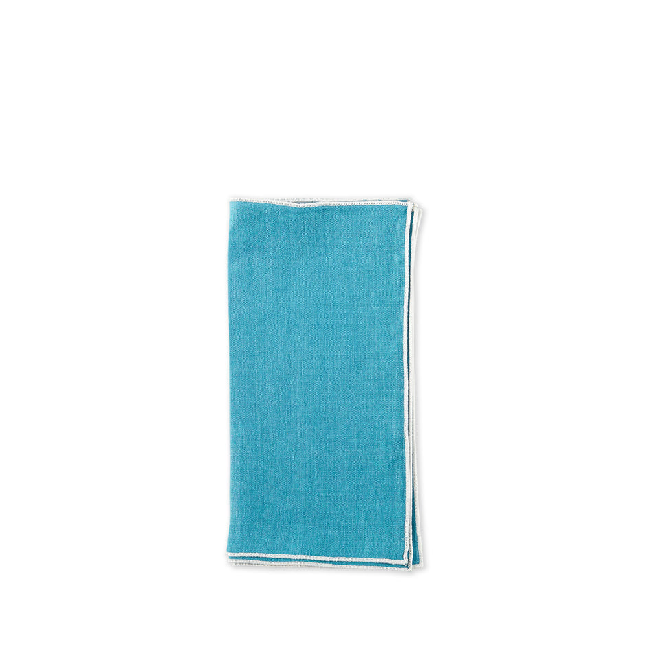 Small Napkins in Grenada Teal (Set of 4) Image 1