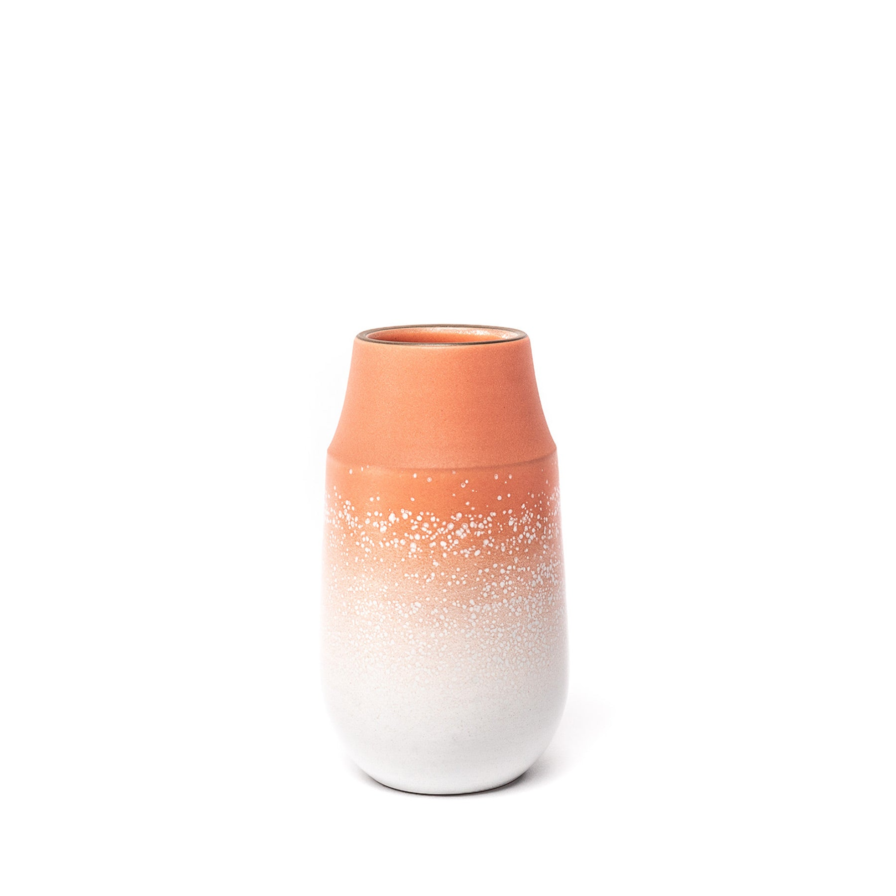 Neck Vase in Grapefruit and Opaque White Zoom Image 1