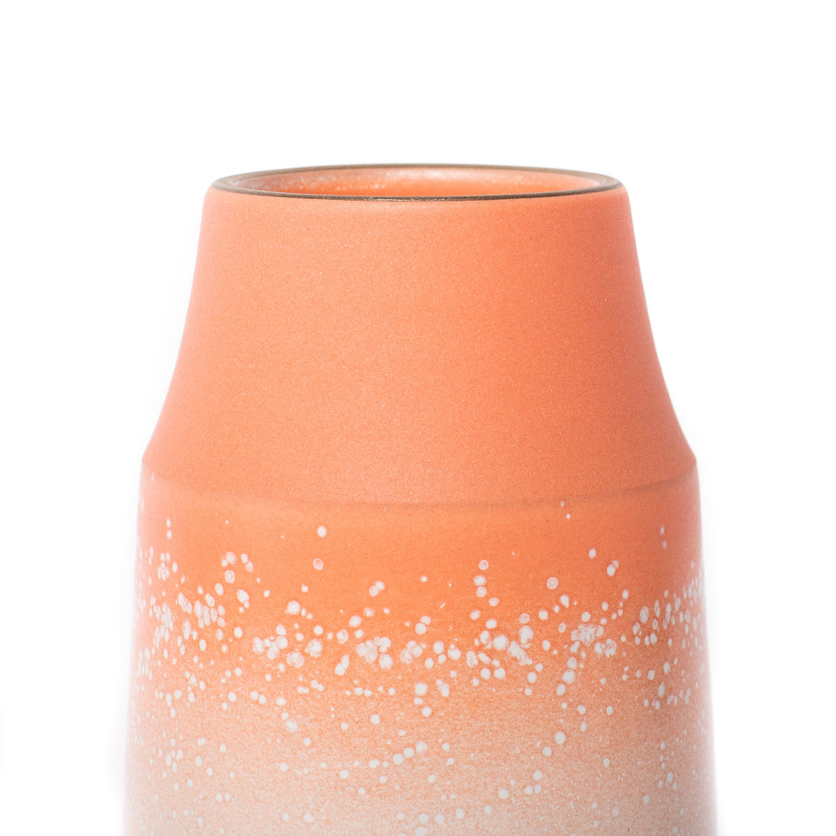 Neck Vase in Grapefruit and Opaque White Image 3