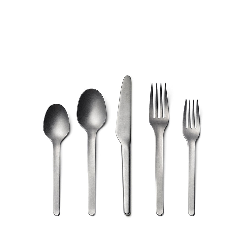 Muir Flatware in Tumbled (5 piece setting) Image 1