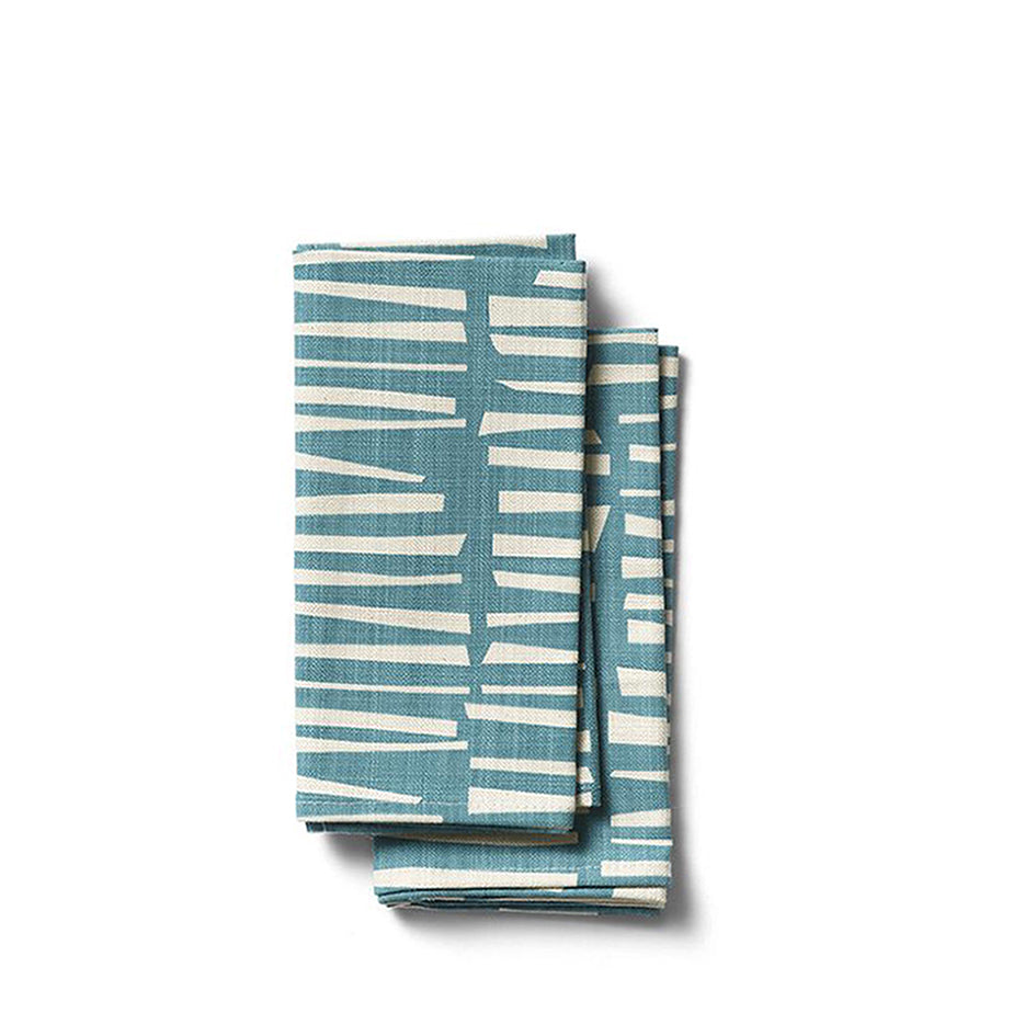 Woodpile Napkins in Teal Image 1