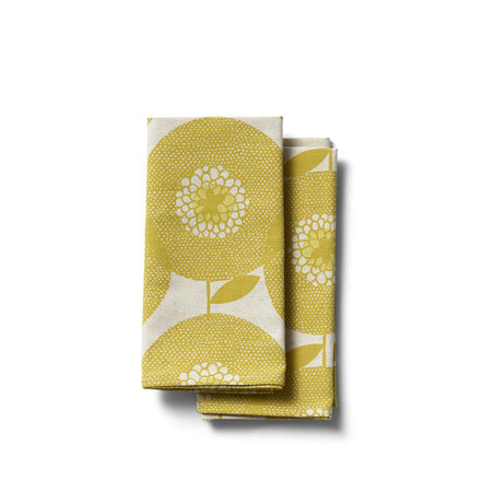 Flowerfields Napkins in Goldenrod