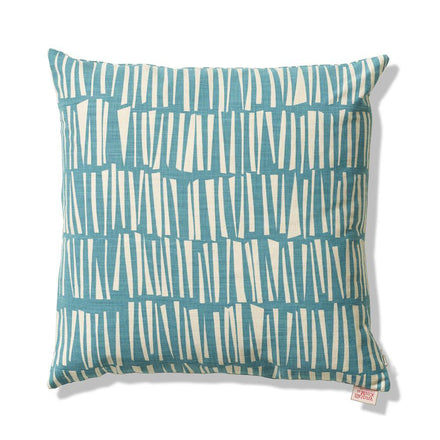 Woodpile Pillow in Teal