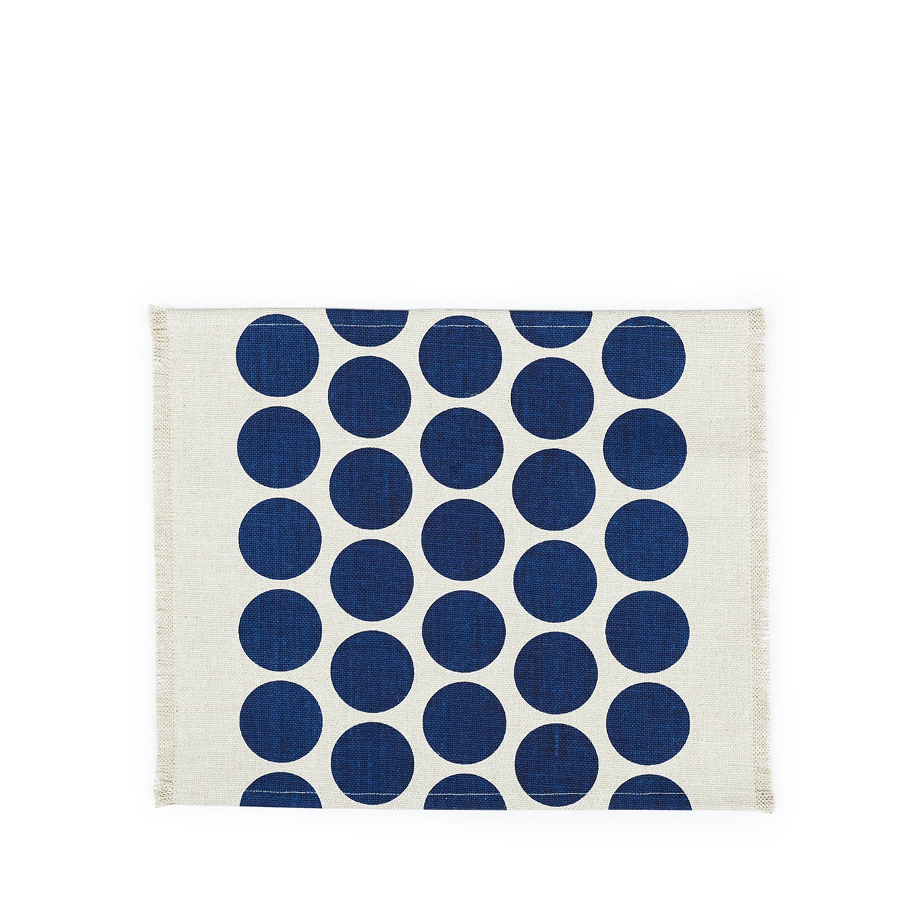 Wilde Linen Solid Circles Placemat in Blue Zoom Image 1
