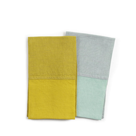 Linen Colorblock Tea Towel