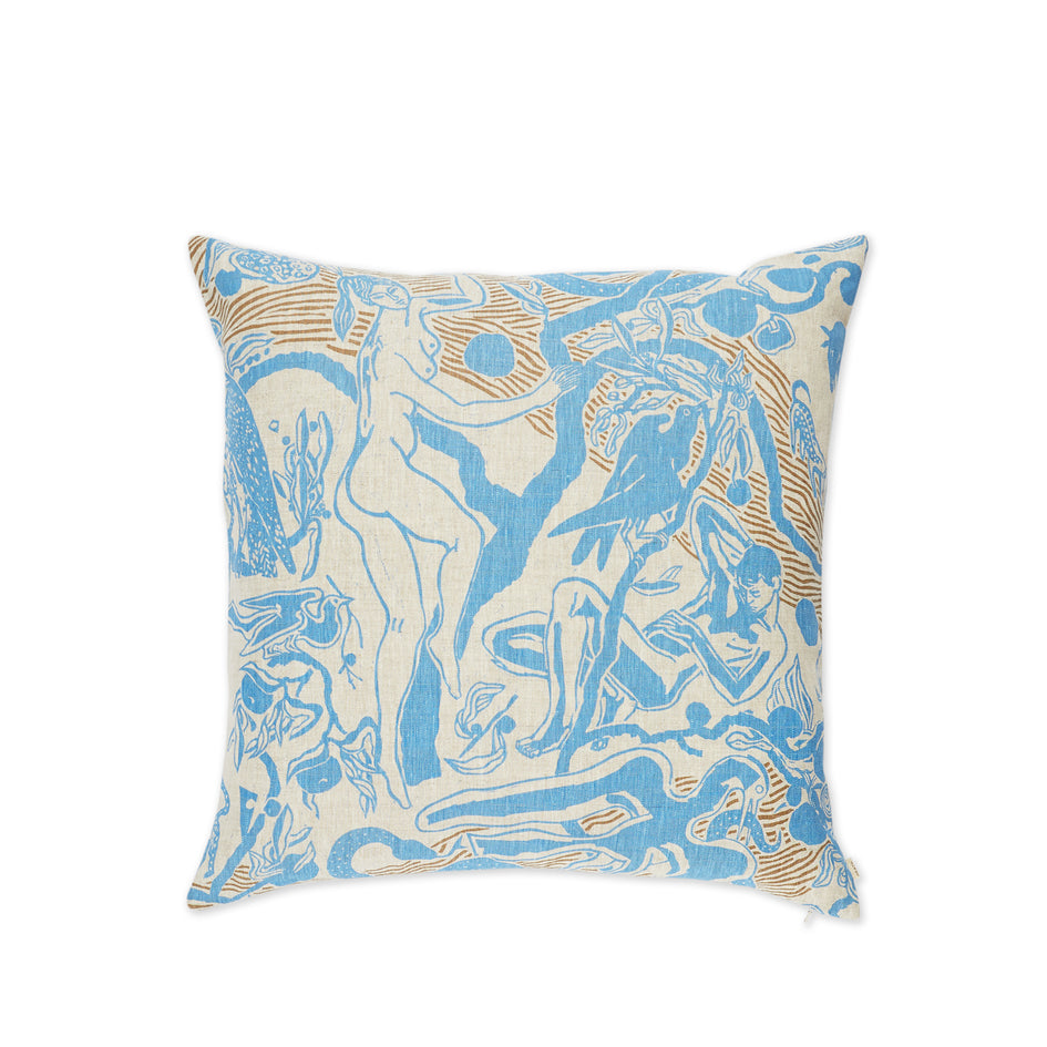Eden Pillow in Blue and Stone Zoom Image 2