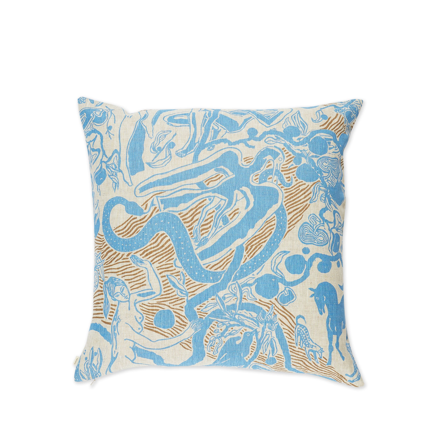 Eden Pillow in Blue and Stone Zoom Image 1