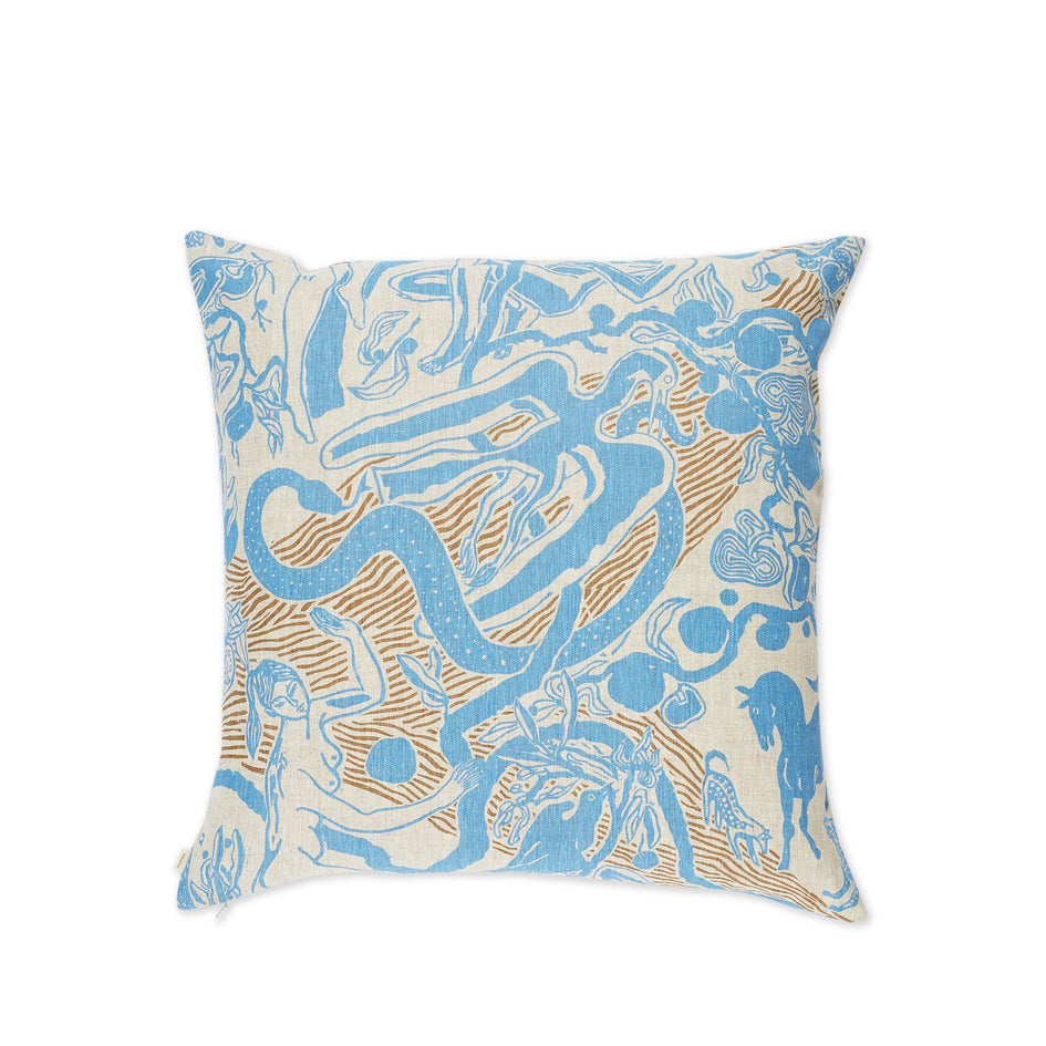 Eden Pillow in Blue and Stone Image 1