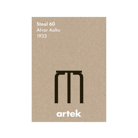 Stool 60 Poster in Greige