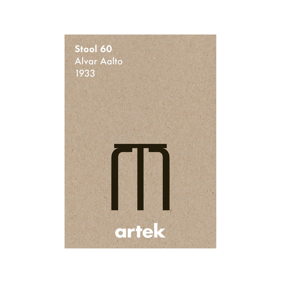 Stool 60 Poster in Greige Image 1
