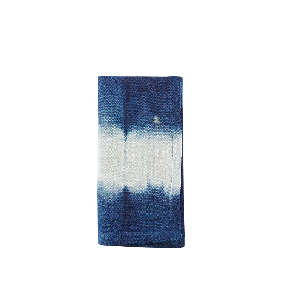 Dark Indigo Cotton Tie Dyed Napkin Image 1