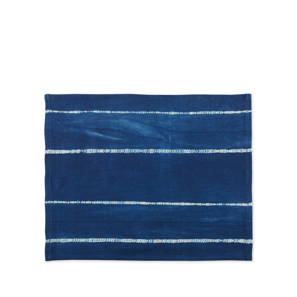 Indigo Cotton Tie Dyed Placemat Image 1
