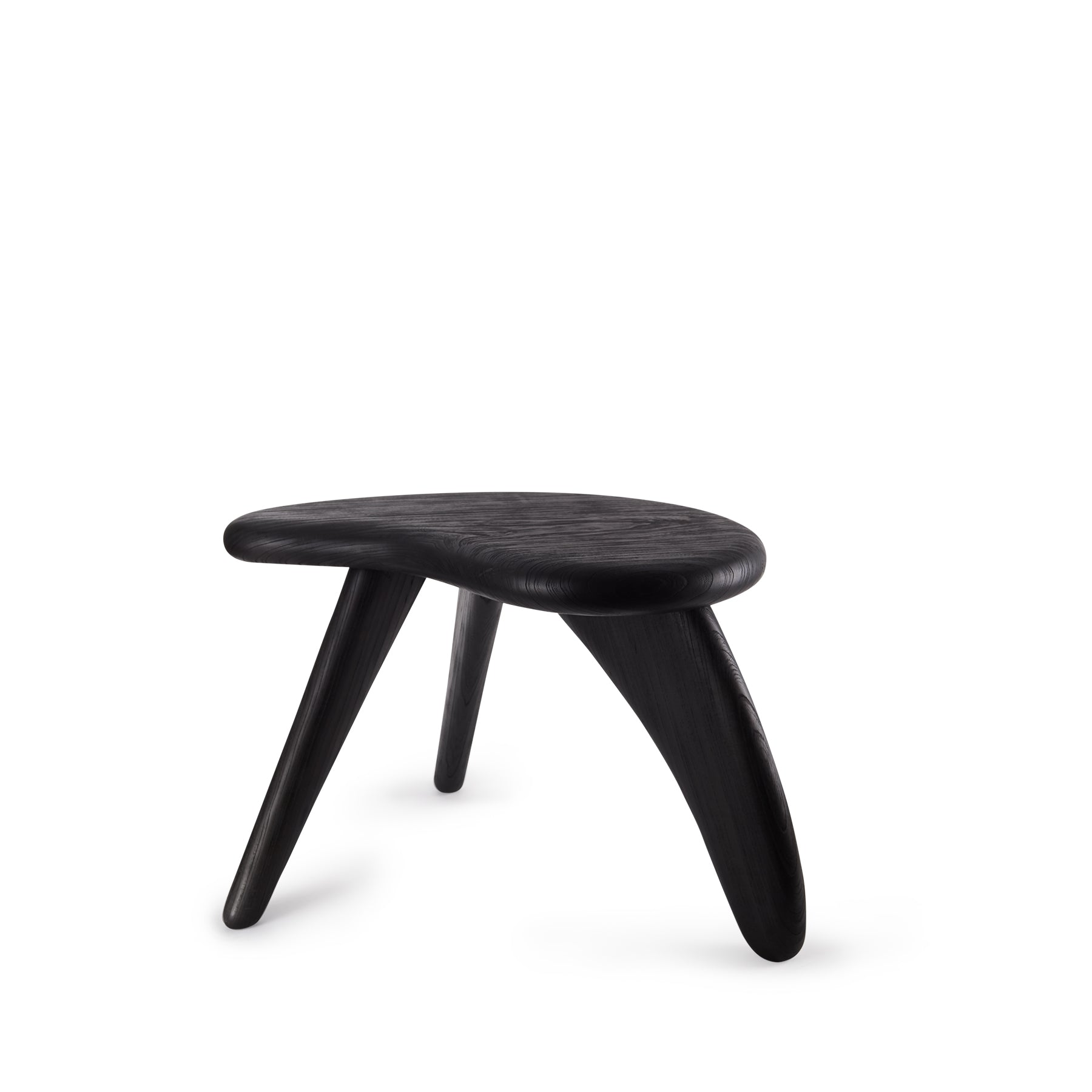 #1 Japanese Zelkova Stool in Black Zoom Image 1