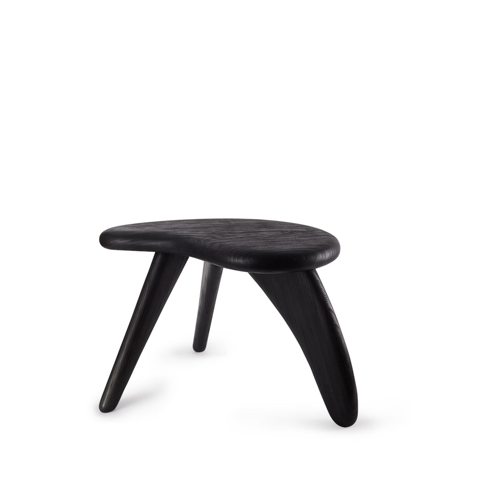 #1 Japanese Zelkova Stool in Black Image 1