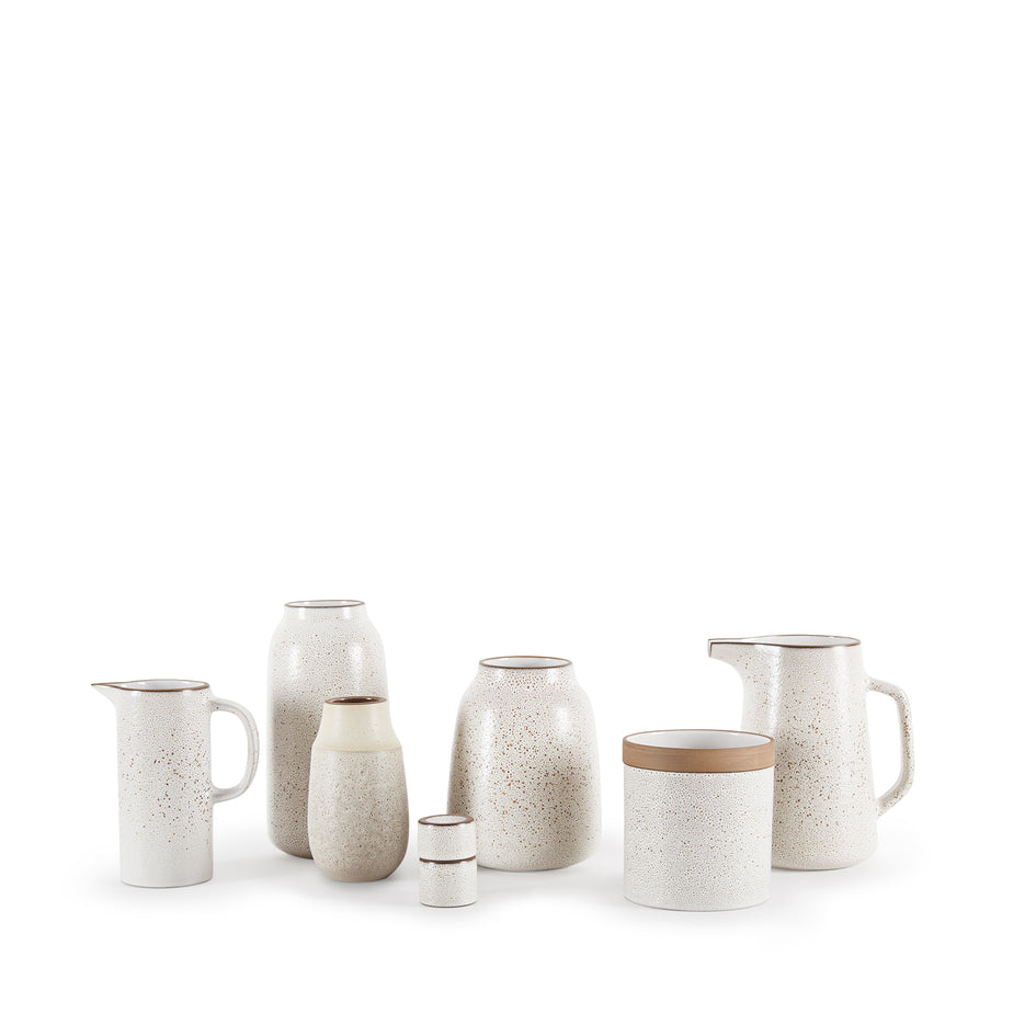Small Pitcher in Opaque White and Matte Brown Image 4