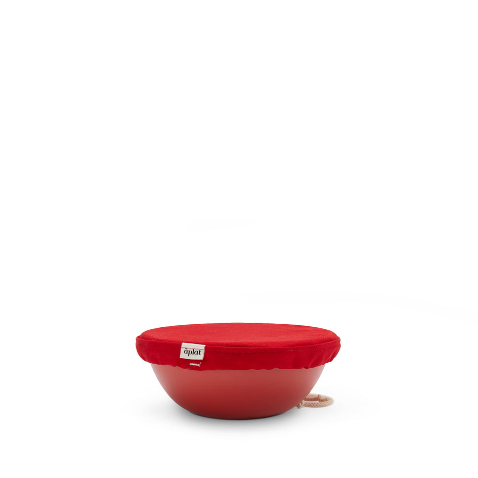 Couvre Plat Small Bowl Cover in Red Zoom Image 2