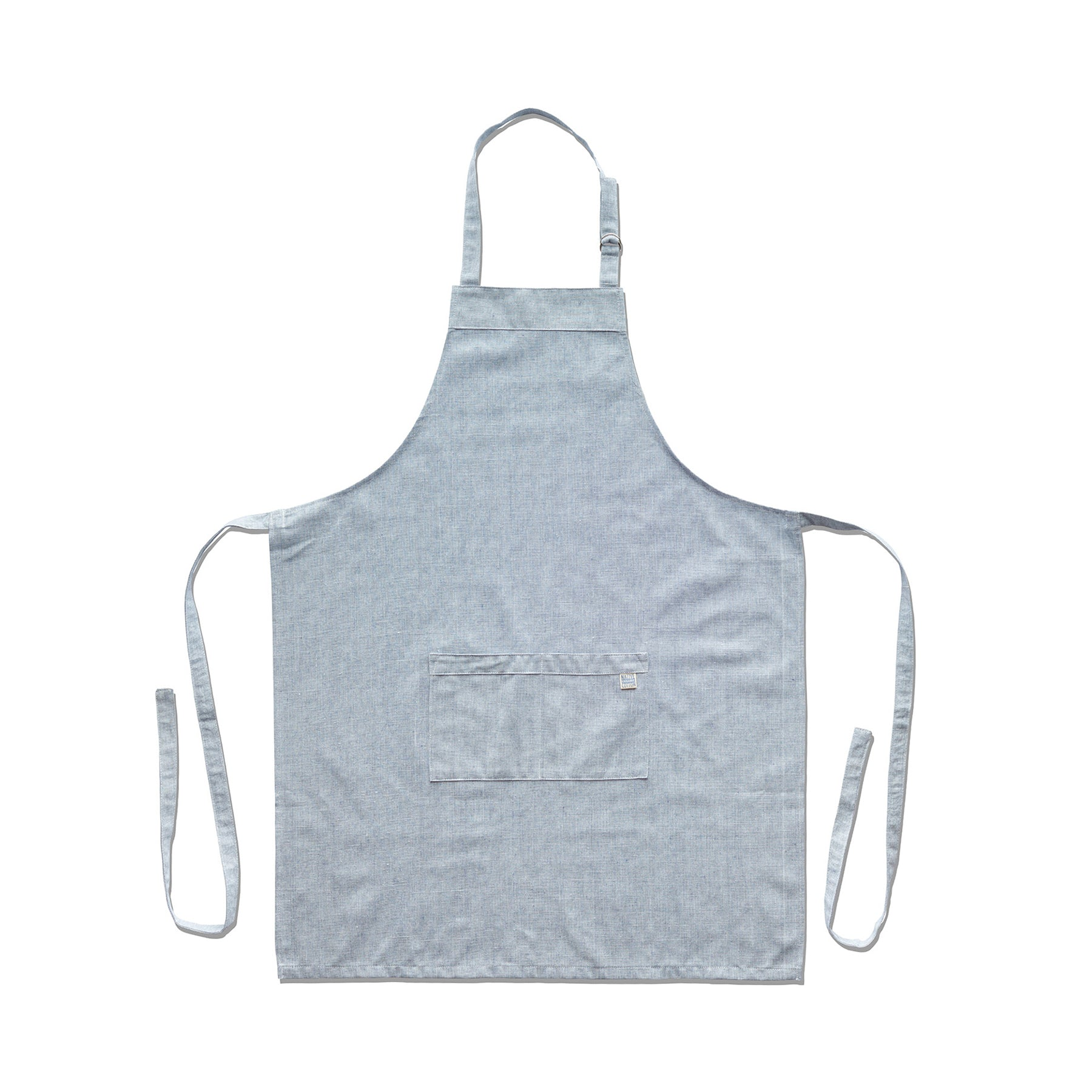 Organic Cotton Apron in Blue Zoom Image 1
