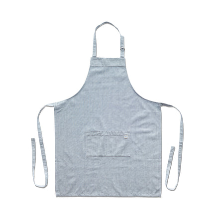 Organic Cotton Apron in Solid Blue