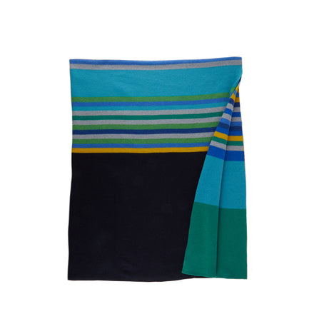 Merino Lambswool Bavington Throw in Pacific