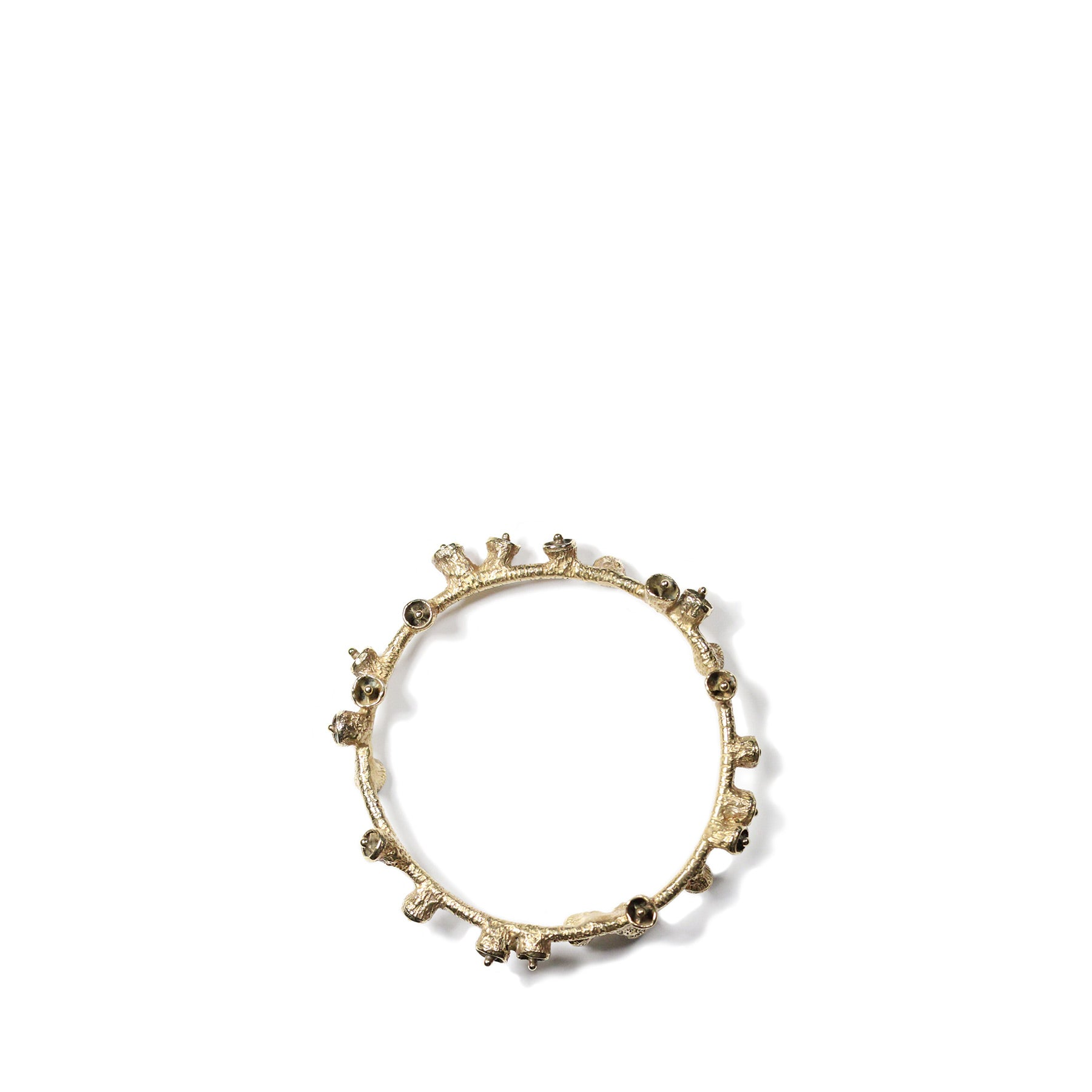 Brushed Brass Bell Pod Bracelet Zoom Image 1