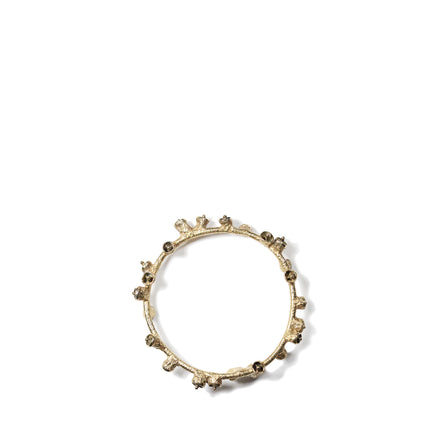 Brushed Brass Bell Pod Bracelet