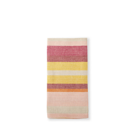 Burgundy Stripe Napkins (Set of 4)
