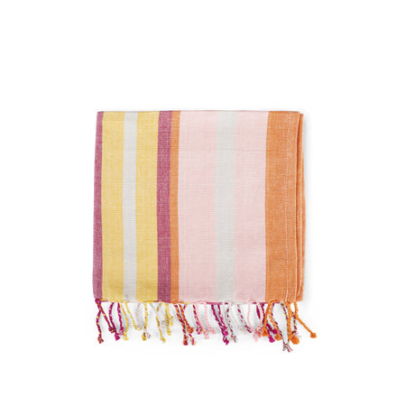 Burgundy Stripe Tea Towel