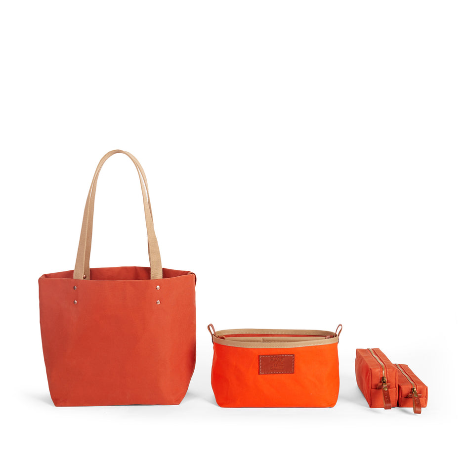 Long Block Pouch in Terracotta Zoom Image 2