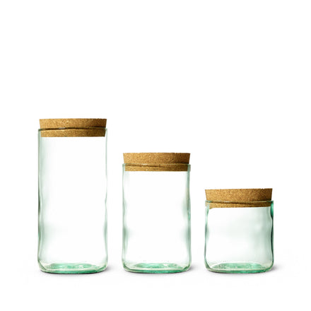 Recycled Bottle Canister in Aqua