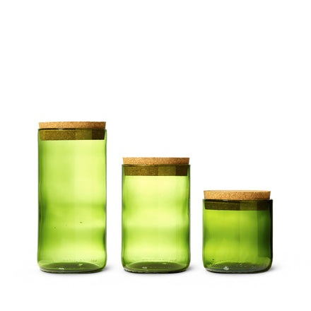 Recycled Bottle Canister in Kelly Green